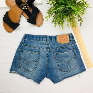 "Pants - High Waisted Levi's Jean Shorts 25"""